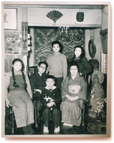 棟方志功と家族